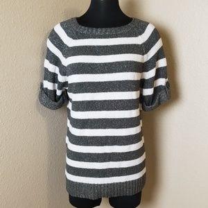 Ann Taylor Short Sleeve Striped Sweater
